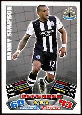 #187 Topps Match Attax Danny Simpson fútbol 2011-12 tarjeta de comercio (C208)