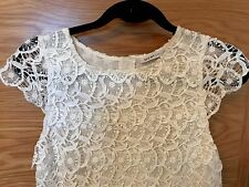 SEE BY CHLOE CREAM LACE COTTON SUN DRESS Size 6 UK