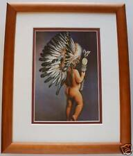 My Easter Bonnet by Teri Sodd Western Native American Indian Child 8x10 Framed