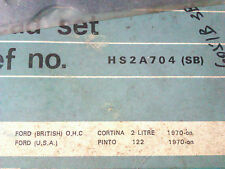 FORD CORTINA 2000E 1970 ON - TOP GASKET SET