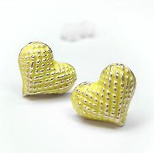 Neu OHRSTECKER mit HERZEN farben gelb/rosegold OHRRINGE Herz HERZE Heart