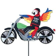 Parrot Biker Born to Wild Staked Wind Spinner Pole  Ground Mount..27... PR 25673