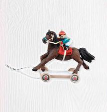 2010 Hallmark Ornament A PONY FOR CHRISTMAS #13 Racing Horse Jockey Teddy Bear
