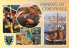 BR90598 fishing on cornwall ship bateaux  uk