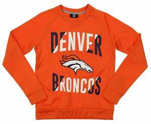 Outerstuff NFL Youth/Kids Denver Broncos Performance Fleece Crew Neck Sweatshirt