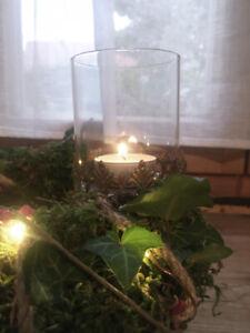 Vintage Kerzenständer Teelicht Kerzenhalter zum stecken Halterung Brocante Neu