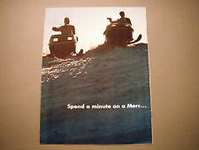 Vintage Mercury Snowmobile Sales Brochure