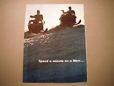 Vintage Mercury Snowmobile Sales Brochure