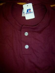 Baseball Shirt Russell 9420BK Two Button Placket Youth Sizes Color Choices New