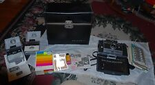 60'S POLAROID AUTOMATIC 100 LAND CAMERA WITH LEATHER CASE + ACCESSORIES