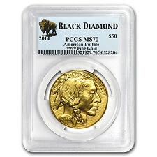2014 1 oz Gold Buffalo MS-70 PCGS (Black Diamond)