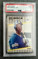 Ken Griffey Jr Rookie Card / Seattle Mariners 1989 Fleer Baseball / PSA 4