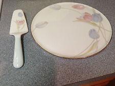 "MIKASA Bone China ""Swiss Garden"" 12"" Round Cake Dessert Plate Japan Server FX009"