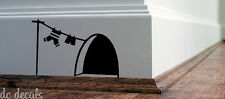 Mouse Hole Wall Art Sticker Washing Vinyl Decal Mice Home Skirting Board Funnyv2