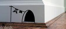 Mouse Foro Muro ARTE Adesivo Lavaggio Vinile Decalcomania TOPI HOME elude Board funnyv2
