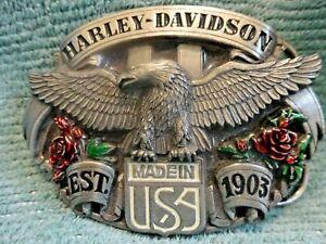 TOP Harley Davidson buckle/gürtelschnalle origi. HD Harmony 88 HD vintage Large
