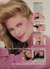 1981  CHRISTIE BRINKLEY for COVER GIRL   : Make up  Magazine  PRINT  AD