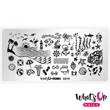 A019 Beach Mode Stamping Plate For Stamped Nail Art Design