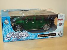 Maisto 1:18 DIE CAST MODEL, Playerz HUMMER H2 SUT CONCEPT GREEN