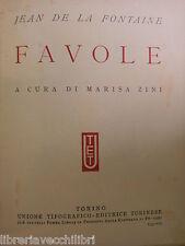 FAVOLE Jean De La Fontaine Marisa Zini UTET 1937 romanzo libro grandi scrittori