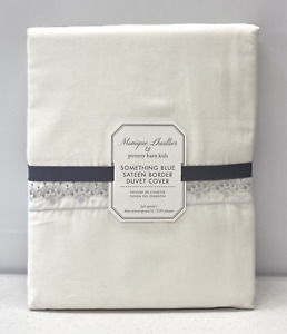 NEW Pottery Barn KIDS Monique Lhuillier Something Blue Border FULL/QUEEN Duvet