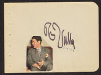 Rudy Vallee (d. 1986) signed autograph 4x5 Album Page Singer, Actor & Bandleader