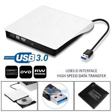 External USB 3.0 DVD RW CD Writer Drive Burner Reader Player For Laptop PC White