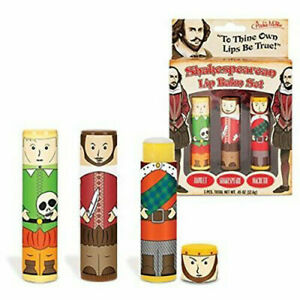 Shakespearean Lip Balm Flavour Twist Dispenser Gloss Gift Makeup Shakespeare