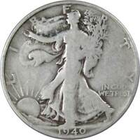 1940 S Liberty Walking Half Dollar AG About Good 90% Silver 50c US Coin