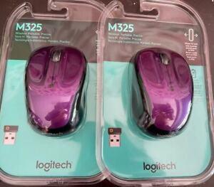 Vivid Purple Logitech - M325 Wireless Optical Mouse - Violet