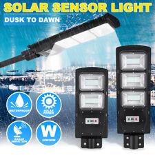 60/90W 120LED Solar Street Light Radar PIR Motion Sensor Wall Timing