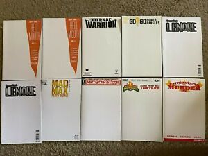 Lot of 10 Independent Comic Blank Sketch Cover Variants