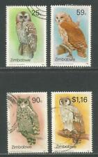 Zimbabwe 1993 Local Owls--Attractive Bird Topical (682-85) fine used