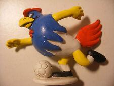 Figurine Vintage PVC SCHLEICH W.GERMANY Rare GALLI Le Coq Sportif FOOT 6cm