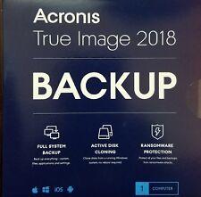 Acronis True Image 2018 - 1 Device New!