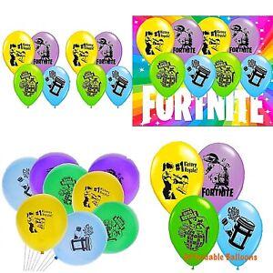 """Fortnite Latex Balloons Pack Of 8. 12"""" Fortnite Birthday Theme Balloons."""