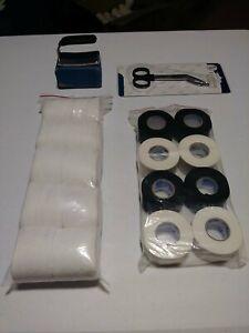 BOXING MMA TRAINER'S Corner Kit - Gauze Wraps Athletic Tape No Swell Scissors
