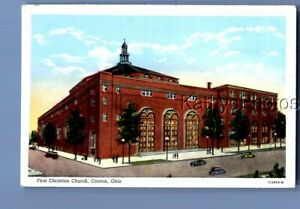 COLOR POSTCARD C+2632 FIRST CHRISTIAN CHURCH IN CANTON OHIO