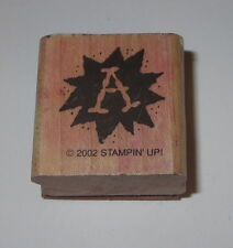 A Rubber Stamp Grades Stampin' Up! Teacher Letter Wood Mounted Retired School #2
