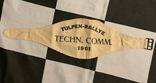 ORIGINAL 1961 INTERNATIONAL TULPEN TULIP RALLY RALLYE COMMISIONER ARMBAND PASS