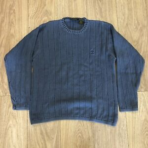 Mens Sweater Jumper M Medium Timberland Blue B6048