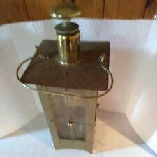 More details for vintage decanter brass glass liquor bottle music box  lantern works