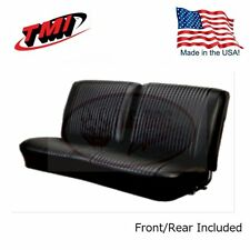 1964 Chevelle Coupe Black Bench Seat Front/Rear Upholstery by TMI
