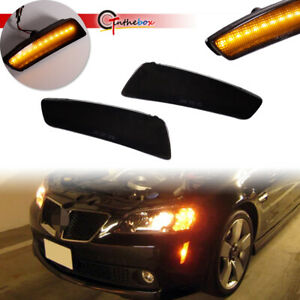 For 2008-2009 Pontiac G8 GT GXP Smoked Front Bumper Side Marker Lights LED Lamps