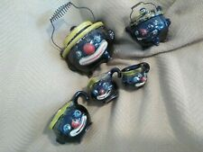 Vintage 5 Piece Made In Japan Black Clown, Hobo Kitchen Ware