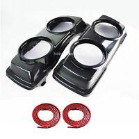Dual Twin 6.5 Speaker Lids Seal 4 Harley HD 93-13 Touring Saddlebag Lid Replace