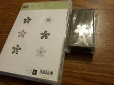 STAMPIN' UP PETITE PETALS CLEAR MOUNT RUBBER STAMP SET & PETITE PETALS PUNCH