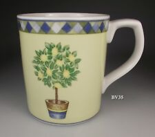 "ROYAL DOULTON CARMINA MUG  3 5/8"" - SET OF 2 MUGS - LEMON TREE - PERFECT"