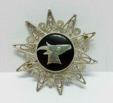 Rare Vintage Unique Malay Silver Goat Star Pin Badge Accessory F/S (B343)