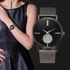 Women's Fashion Classic Casual Crytal Quartz Stainless Steel Analog Wrist Watch